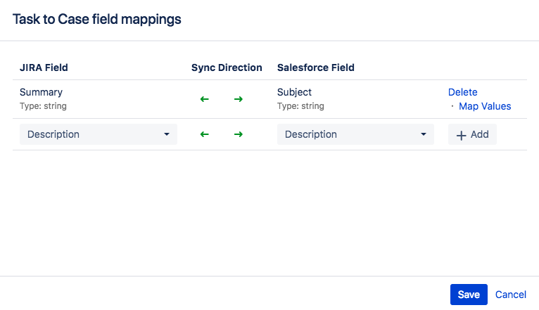 Configuring Entity Mappings and Field Mappings - Connector