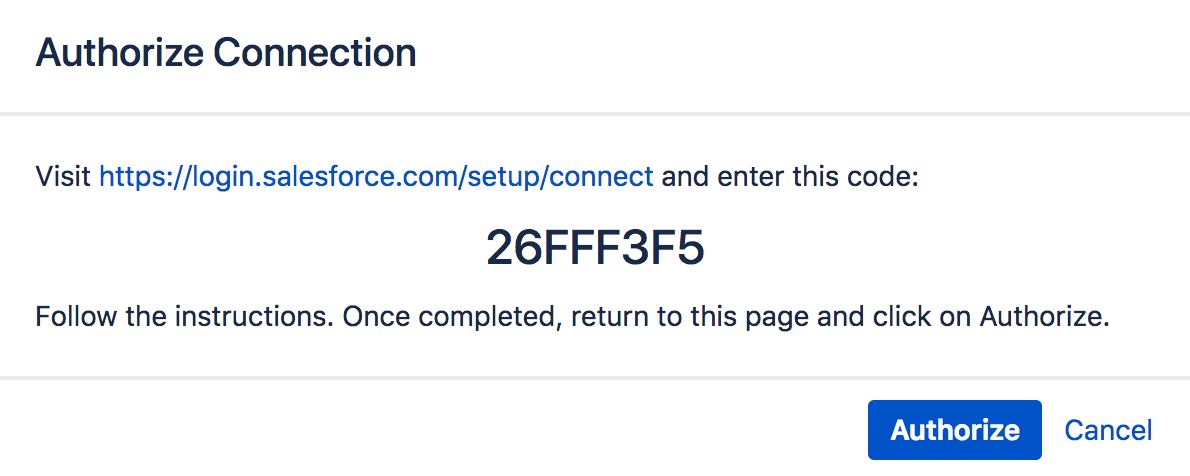 Setting up a connection to Salesforce - Connector for Salesforce & Jira