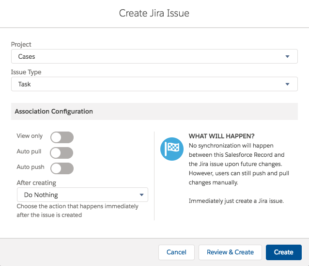 Creating a Jira Issue from Salesforce - Connector for